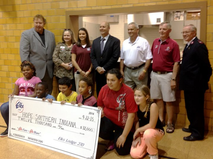 Elks Lodge 270 donates to Hope Southern Indiana