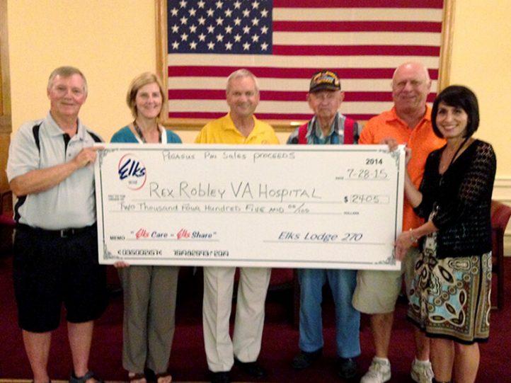 Elks Lodge 270 donates to VA Hospital