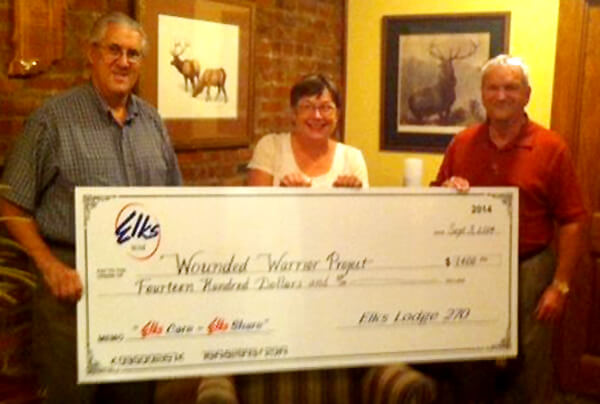 Elks Lodge 270 donates to Wounded Warrior Project