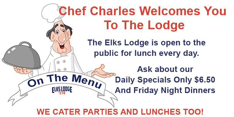 Elks 270 Lunch Menu